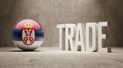 Serbia. Trade Concept. - stock illustration
