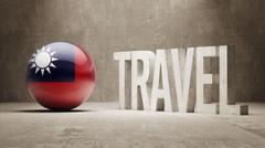 Taiwan. Travel Concept. Stock Illustration