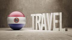 Paraguay. Travel Concept. Stock Illustration