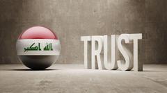 Iraq. Trust Concept Stock Illustration
