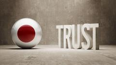 Japan. Trust Concept Stock Illustration