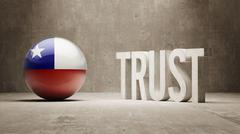 Chile. Trust Concept Stock Illustration