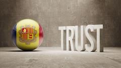 Andorra. Trust Concept Stock Illustration