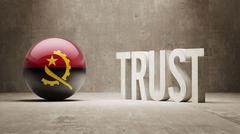 Stock Illustration of Angola. Trust Concept