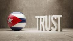 Cuba. Trust Concept - stock illustration