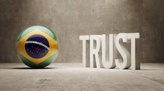 Brazil. Trust Concept Stock Illustration