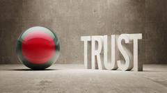 Bangladesh. Trust Concept Stock Illustration