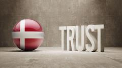 Stock Illustration of Denmark. Trust Concept
