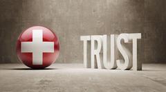 Switzerland. Trust Concept Stock Illustration