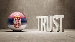 Stock Illustration of Serbia. Trust Concept