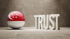 Singapore Trust Concept - stock illustration