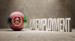 Afghanistan. Unemployment Concept. - stock illustration