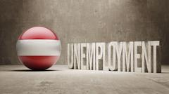 Stock Illustration of Austria. Unemployment Concept.