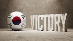 South Korea. Victory Concept. - stock illustration