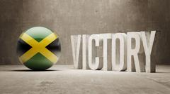 Jamaica. Victory Concept. - stock illustration