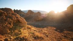 4K Motion Control Dolly / Pan Time Lapse of Sunrise at Pinnacles -Full Frame- - stock footage
