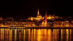 Budapest - Fisherman's Bastion Stock Footage