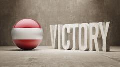 Austria. Victory Concept. Stock Illustration