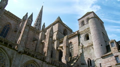 Saint-Tugdual Cathedral - Treguier France Stock Footage