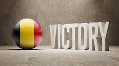 Belgium. Victory Concept. Stock Illustration