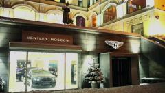 Luxury brand Bentley for sale  - stock footage