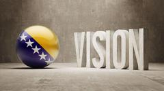 Stock Illustration of Bosnia and Herzegovina. Vision Concept.