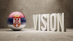 Stock Illustration of Serbia. Vision Concept.