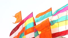 Colorfull Flag Stock Footage