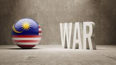 Stock Illustration of Malaysia. War Concept.
