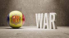 Andorra. War Concept. - stock illustration