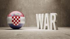 Stock Illustration of Croatia. War Concept.