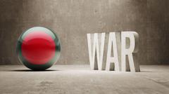 Stock Illustration of Bangladesh. War Concept.