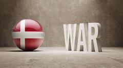 Denmark. War Concept. - stock illustration