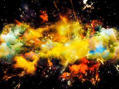Nebula Meditations - stock illustration