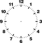 Stock Illustration of Template of clock dial