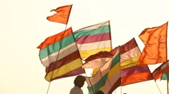 Colorfull Flag - stock footage