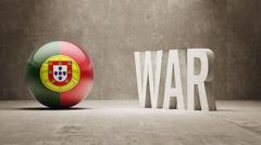 Stock Illustration of Portugal. War Concept.