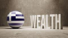 Greece. Wealth Concept. Stock Illustration