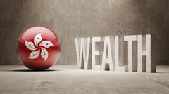 Stock Illustration of Hong Kong. Wealth Concept.