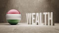 Hungary. Wealth Concept. Stock Illustration