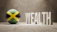 Jamaica. Wealth Concept. - stock illustration