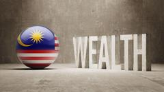 Malaysia. Wealth Concept. Stock Illustration