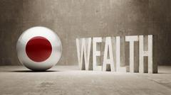 Stock Illustration of Japan. Wealth Concept.