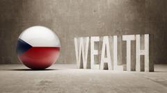 Stock Illustration of Czech Republic. Wealth Concept.