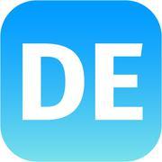 DE domain icon Stock Illustration