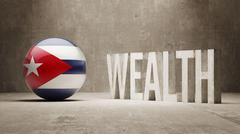 Cuba. Wealth Concept. - stock illustration