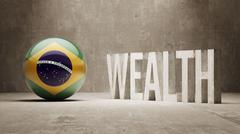 Brazil. Wealth Concept. - stock illustration