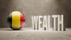 Belgium. Wealth Concept. Stock Illustration