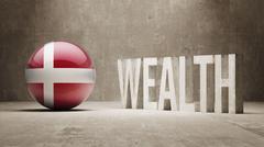 Denmark. Wealth Concept. - stock illustration