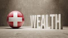 Switzerland. Wealth Concept. - stock illustration